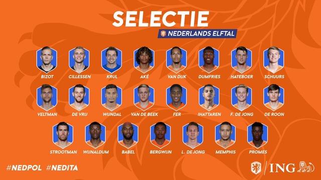 ◆各国代表◆ネイションズリーグ、ポーランド戦とイタリア戦に望むオランダ代表23名発表!ダイク、アケ、デヨンクら選出