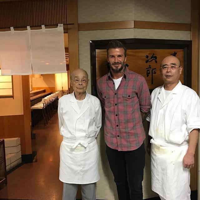 ◆画像◆来日中のデイビッド・ベッカム、銀座の寿司店すきやばし次郎でお食事!