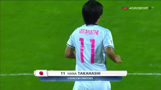 ◆U17女子W杯◆準決勝 日本×スペイン 日本左サイドの美しい崩しから高橋のゴールで先制!