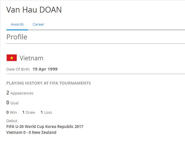 ◆U20代表小ネタ◆ベトナムのU20代表にもDOANがいてワロタwww