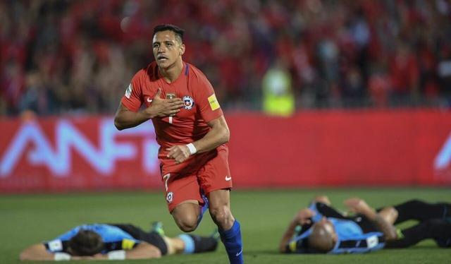 ◆W杯予選◆南米:チリ×ウルグアイ アレクシス・サンチェスの2G、1G目のゴラッソ、2G目のトラップが凄すぎる
