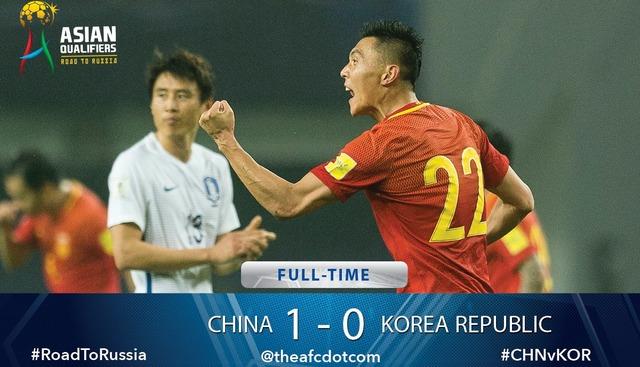 ◆W杯予選◆中国×韓国の結果 韓国、中国に歴史的敗戦 1-0で中国逃げ切る