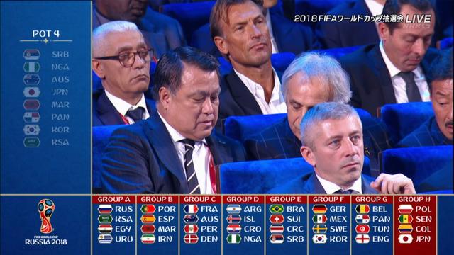 ◆W杯◆組み合わせ抽選結果、日本はH組でポーランド、セネガル、コロンビアと同組!