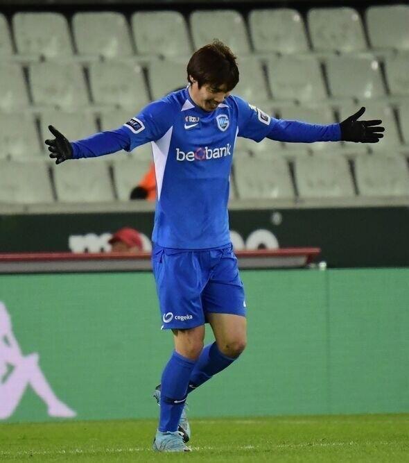 ◆ベルギー◆ゲンク伊東純也、セルクルブルージュ戦でリーグ戦今季初ゴール!右足で強烈に叩き込む