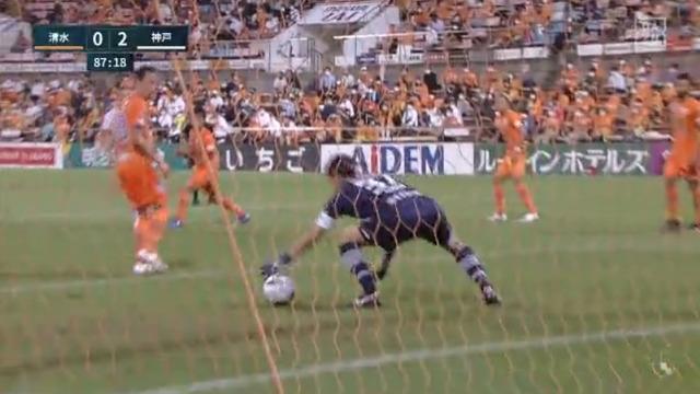 ◆悲報◆清水の日本代表GK権田修一さん、DFにちょっと当たったとはいえ手の横をゆっくり通り過ぎるボールに反応できず(´・ω・`)