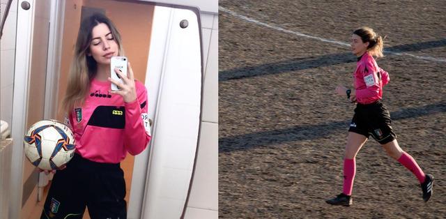 ◆悲報◆イタリアの美女レフェリー、14歳の選手に眼の前で下半身露出されレッドカード提示