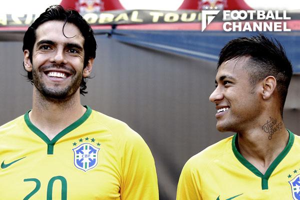 """◆ブラジル代表◆カカーがネイマールに""""改名""""を勧める。「世界最高にね」"""