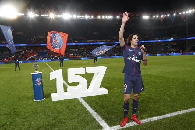 ◆リーグ・アン◆エディソン・カバーニ、PSGクラブ記録の157Gをホームで達成!