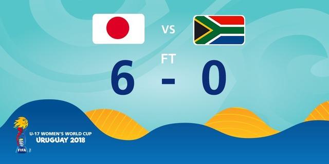◆U17女子W杯◆B組2節 日本×南ア リトルなでしこ無慈悲なスコアで南ア粉砕!GL首位浮上!