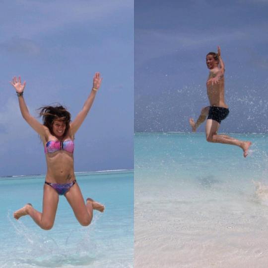◆画像◆バカンスでモルジブの浜辺ではしゃぐ勝者F・トーレス師匠wwwwwwww