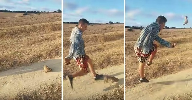"""◆スペイン◆""""ロナウド!""""と叫んでウサギを10m以上蹴り飛ばす動画UPした動物虐待犯逮捕にスペイン国家警察が動き出す"""
