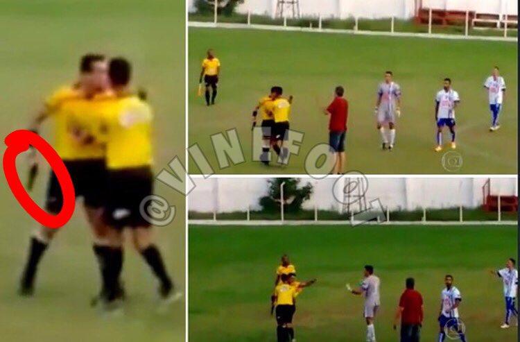 ◆南米◆乱闘で暴行され激高した審判が試合中に銃持ち出す(動画)