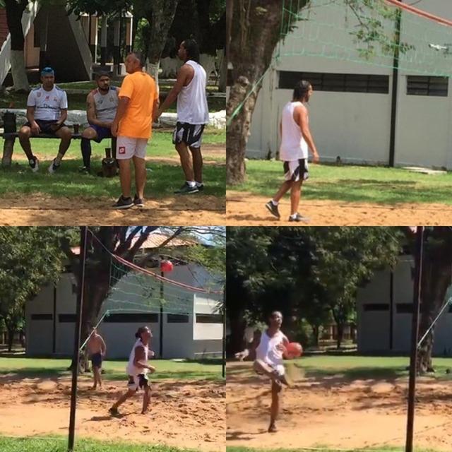 ◆朗報◆刑務所のロナウジーニョ、今日もサッカーボールで遊ぶ