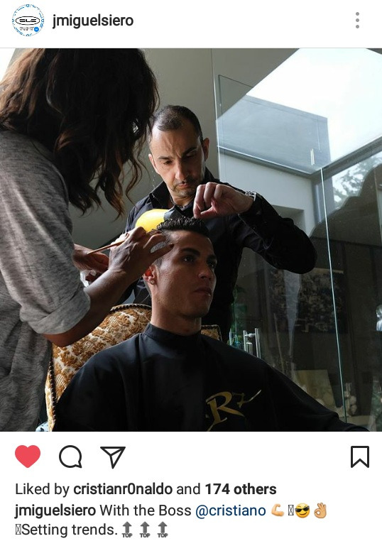 ◆画像◆クリスティアーノ・ロナウド、CL決勝に向けて気合い入れのヘアカット!