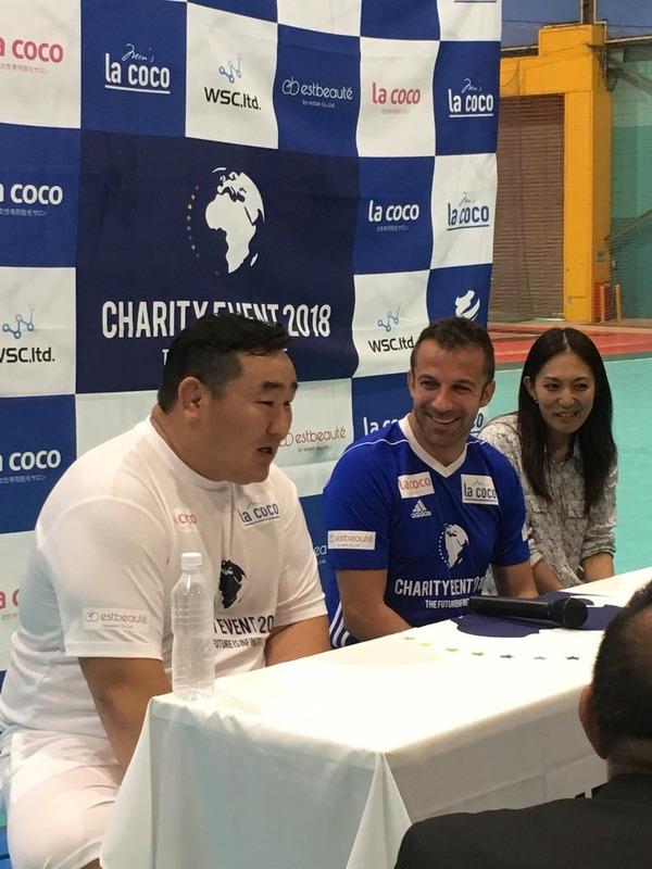 ◆朗報◆元伊代表FWデル・ピエロ、モドリッチの依頼で日本でチャリティ参加、ドルジと一緒にサッカーに興じる