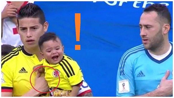 ◆悲報◆ハメス・ロドリゲスさん自分からやってきたオスピナの息子になぜか大泣きされる( ;∀;)
