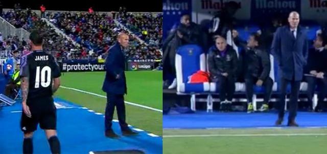 ◆悲報◆レガネス戦ゴール決めるも交代させられたハメス・ロドリゲスさん激おこ!コーチの手を強烈に叩き返す