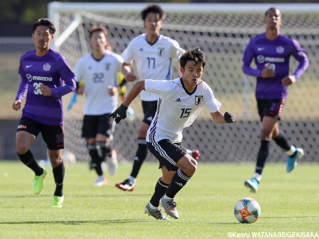 ◆U22代表◆広島と練習試合、0-1で完封負け…久保途中出場で上田綺世たんとのある意味ホットラインを披露