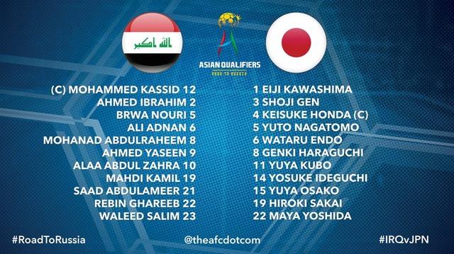 ◆W杯予選◆B組8節 イラク×日本 前半終了 日本 大迫勇也のゴールで1-0とリードして後半へ