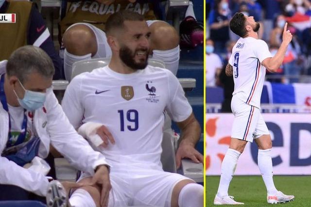 ◆悲報◆仏代表FWベンゼマ、せっかく復帰したのにブルガリア戦で負傷退場!しかも交代出場のジルーが2G
