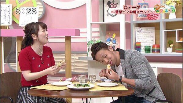 ◆画像◆日本代表MF清武弘嗣さん、故郷大分でTV出演食レポで変な食い方しててワロタwww