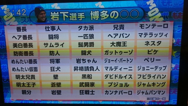 ◆J小ネタ◆博多で元ガンバの悪童岩下敬輔のニックネームを募集した結果wwwww