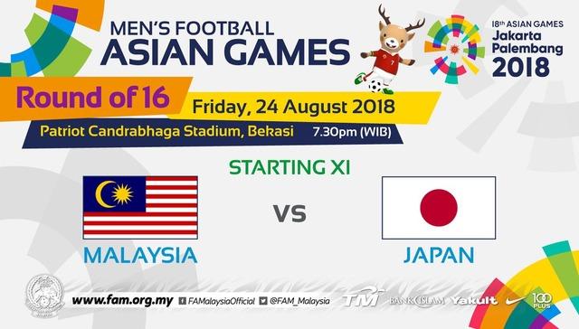 ◆アジア大会◆R16 日本×マレーシア 日本押されつつも上田がPKを決めて逃げ切りR8へ