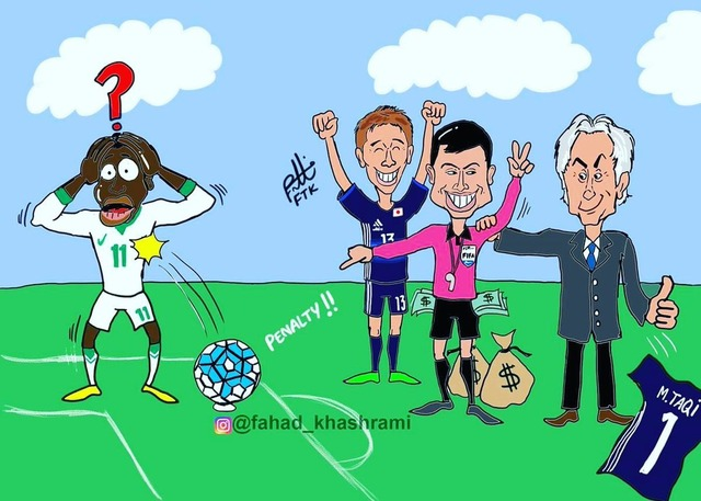 ◆画像小ネタ◆昨日のPKは買収だ!風刺画で必死に揶揄する中東人ワロスwww