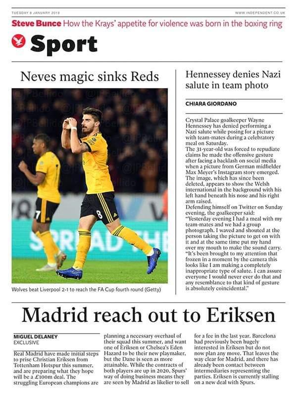 ◆リーガ◆レアル・マドリー、スパーズのエリクセンを£100mで狙う by 英国紙
