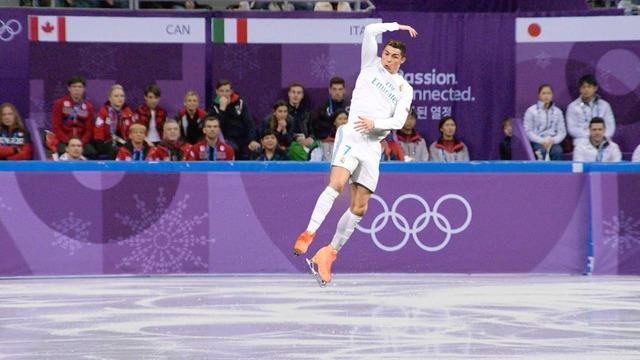 ◆画像◆クリロナさんにスケート靴履かせて平昌五輪会場に降臨させてみた結果www