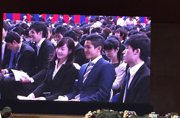 ◆日本代表◆武藤よっち、慶応の卒業式に出席!
