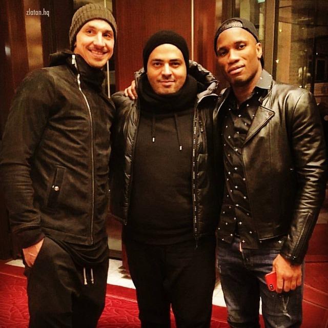 ◆画像◆黒装束のイブラヒモビッチと黒装束のドログバがパリで出会った結果wwwww
