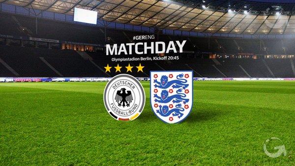 ◆親善試合◆ドイツ×イングランドの結果 ファインゴールの共演!独2点リードもケイン・バーディ・ダイアーでイングランド逆転勝利!(全ゴール&ハイライト)