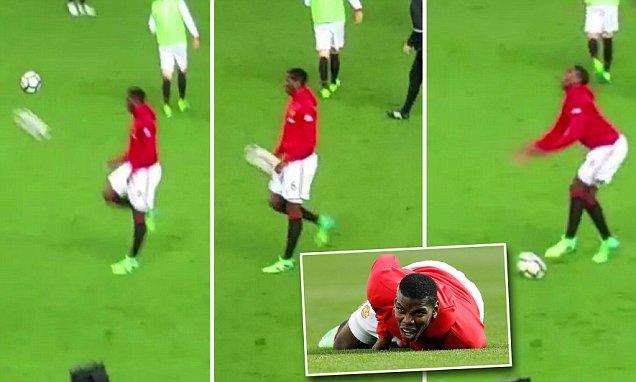◆悲報◆120億の男ポール・ポグバ アップ中自身のポールにボールが直撃し悶絶!