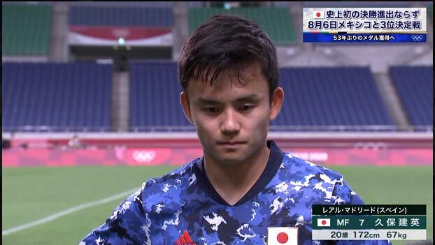 ◆悲報◆久保建英くんさん、試合後ガックシ