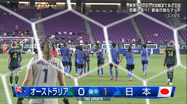 ◆親善試合◆なでしこ×豪州 54分 PKを岩渕真奈が決めてなでしこ先制