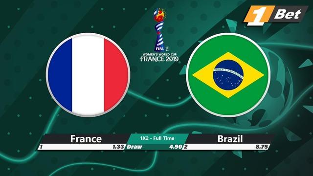 ◆女子W杯◆R16 優勝候補フランスにブラジル健闘も延長後半アンリのゴールでフランスがR8進出