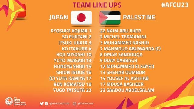 ◆AFC U23◆B組1節 日本×パレスチナ 日本、板倉滉の一撃で辛勝スタート