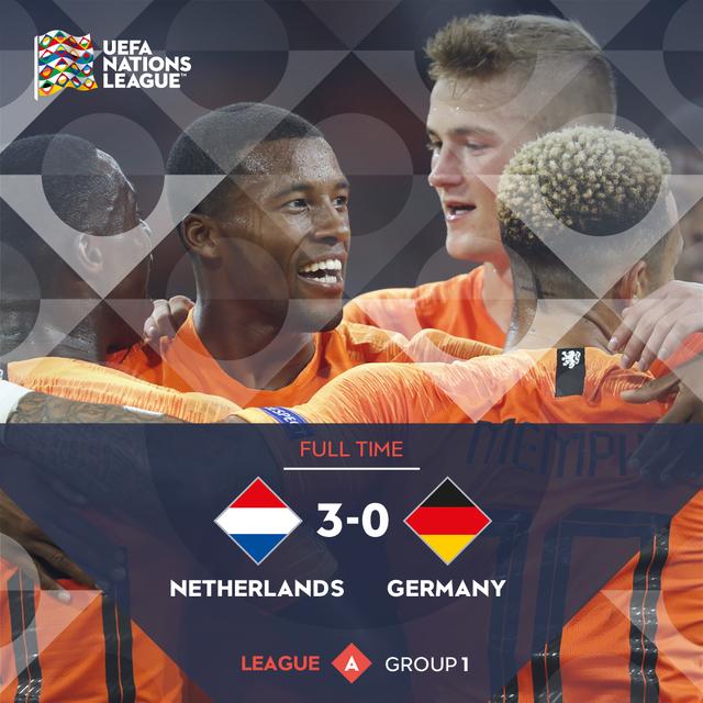 ◆UNL◆A-1組 オランダ×ドイツ ドイツ崩壊!オランダ、ダイク・デパイ・ワイナル弾で3発完勝