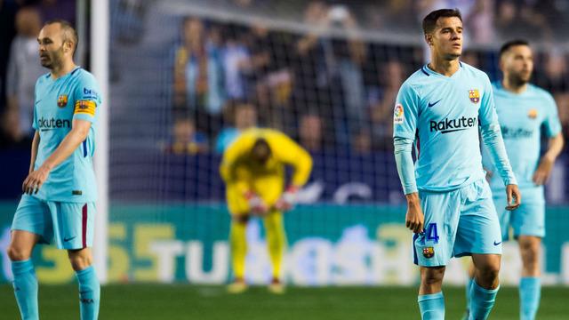 ◆リーガ◆バルセロナ無敗優勝の夢破れる…レバンテに5失点、ボアテングにハットトリック許す(ハイライト)