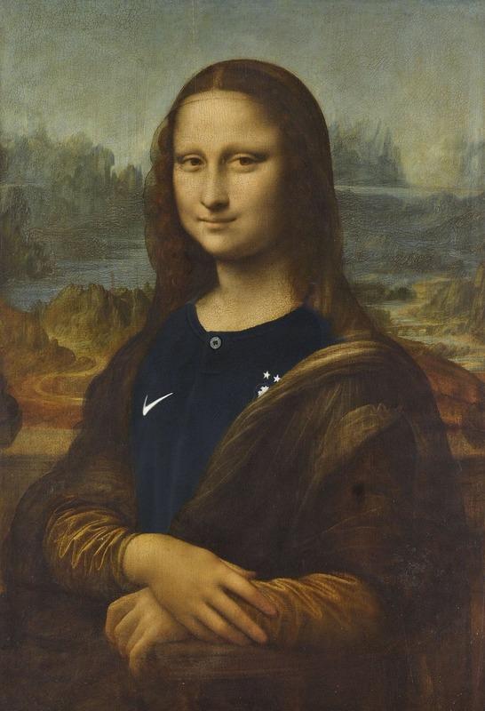 ◆悲報◆ルーヴル美術館公式モナ・リザにフランス代表ユニ着せた雑コラUPして炎上!イタリア人が激おこ
