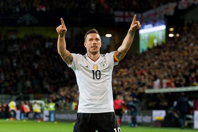 ◆親善試合◆ドイツ×イングランド 引退試合ポドルスキーのドッカンミドル凄すぎワロタwww