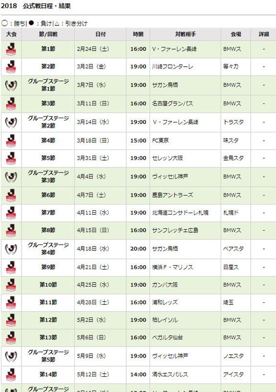 ◆Jリーグ◆Jリーグが2018年全日程を発表!