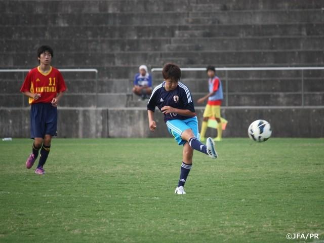 ◆女子代表◆先日男子高校生チームに勝利したU19女子代表が今度は男子中学生チームに9-1大勝!