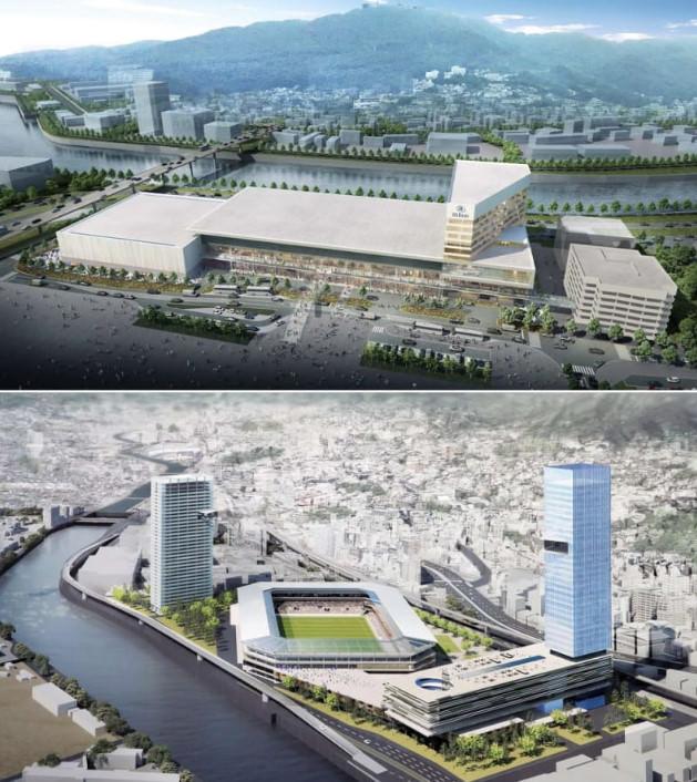 ◆Jリーグ◆ジャパネットのホテル複合新スタジアム構想 長崎市が近隣によく似たイベント施設を147億円で建設計画中 市議会に波紋