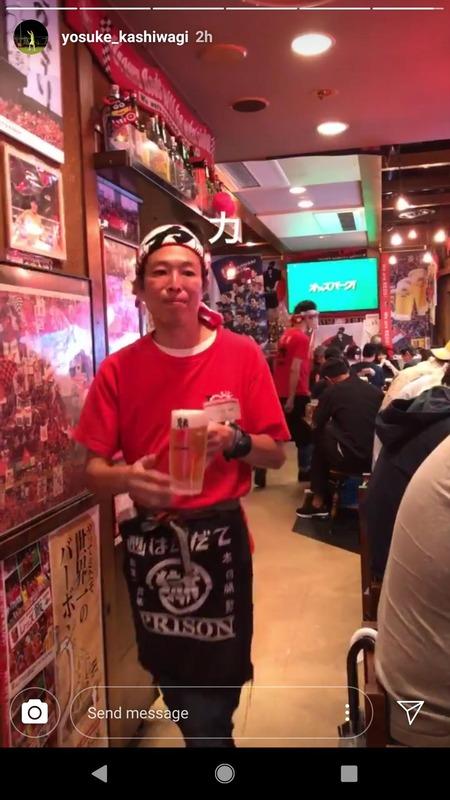 ◆Jリーグ◆浦和のキャプテン柏木陽介さんはまたも浦和サポの集いの場「酒蔵 力」に出没