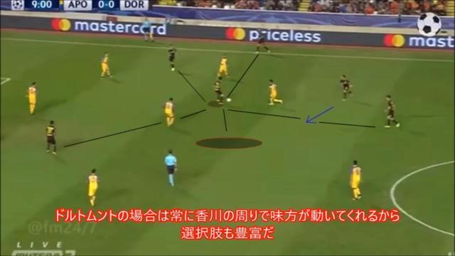 ◆動画◆仕掛ける積極性が足りない?香川真司のCLアポエル戦の分析動画が話題に!