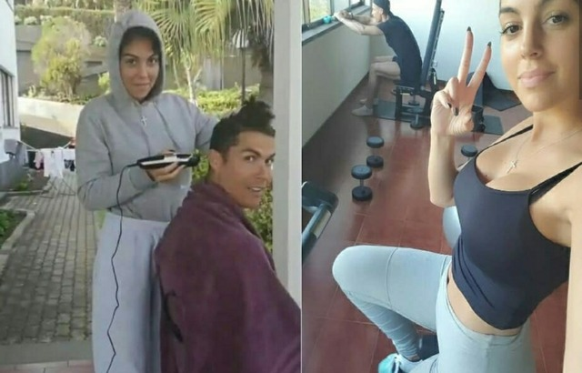 ◆悲報◆クリロナさん、素人の彼女にヘアーを刈り上げられてしまいマルセロやコスタに冷やかされる