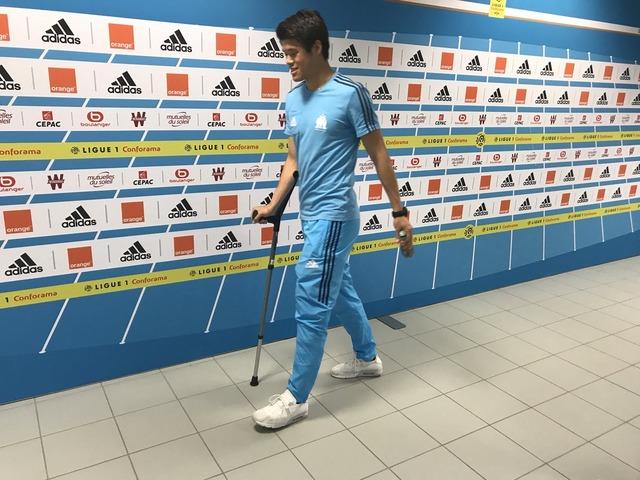 ◆リーグ・アン◆リール戦負傷退場の酒井宏樹、試合後松葉杖姿