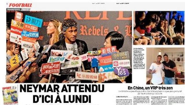 ◆リーガ◆ネイマールは中国を出発しドゥバイへPSGのメディカルチェックに向かう!契約サインは来週月曜日か